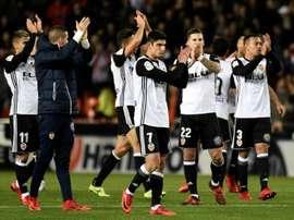 Valencia recebeu e venceu o Real Zaragoza. EFE