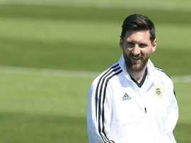Messi se verá con Scaloni en breve. AFP