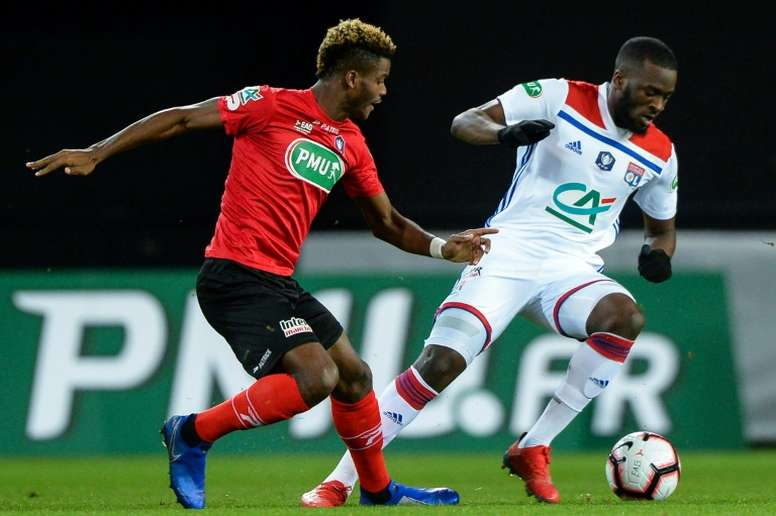 Tanguy Ndombele only signed for Lyon in the summer, but could be on his way again. AFP