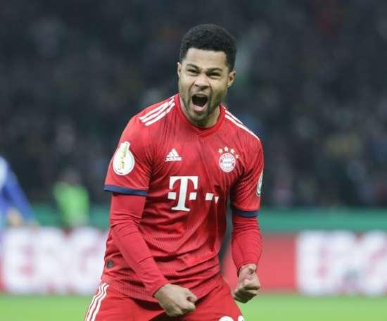 Serge Gnabry, auteur dun doublé pour le Bayern. AFP