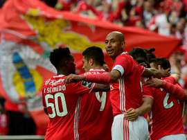 O Benfica é campeão português pela 36ª vez. AFP