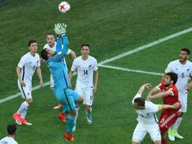 Les Néo-Zélandais face à la Russie lors de la Coupe des Confédérations. AFP