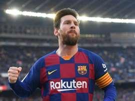 Messi continuará en el Barça al menos hasta 2021. AFP