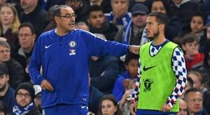 Sarri n'écarte pas le départ d'Hazard. AFP