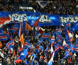 Les Glasgow Rangers à nouveau sanctionnés pour des chants 'racistes'. AFP