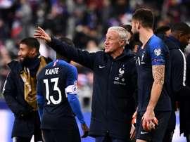 Les compos probables du match de qualification à l'Euro entre l'Albanie et la France. AFP