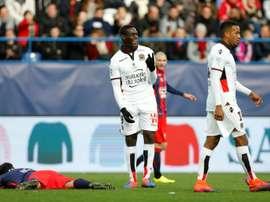 Mario Balotelli n'avait pas joué lors du match contre Schalke en Europa League. AFP