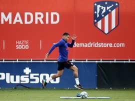 Angel Correa s'est blessé à l'entraînement. AFP