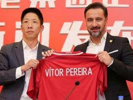 Vitor Pereira présenté officiellement comme entraîneur du Shanghai SIPG. AFP