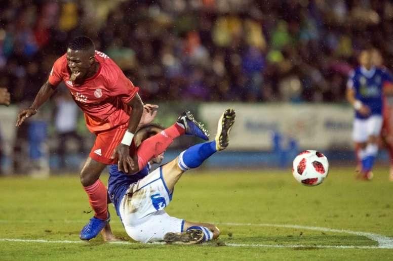 Vinicius chega cheio de vontade. AFP