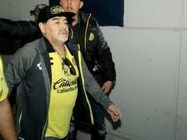 Échec pour Maradona. AFP