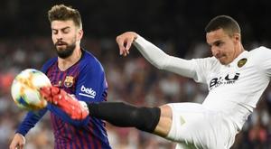 Rodrigo se remémore son but contre le Barça en finale de Coupe du Roi. AFP