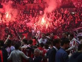Olympiakos ya es de nuevo campeón de Liga en Grecia. AFP/Archivo