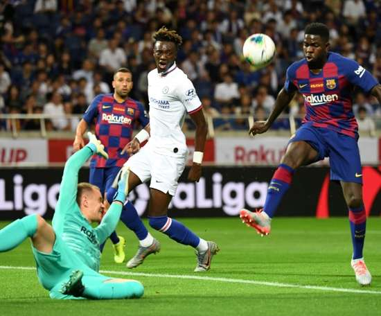 Umtiti says he is delighted to play for Barca. AFP