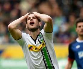 Le milieu du Borussia Moenchengladbach Havard Nordtveit réagit lors du match face à Hoffenheim.