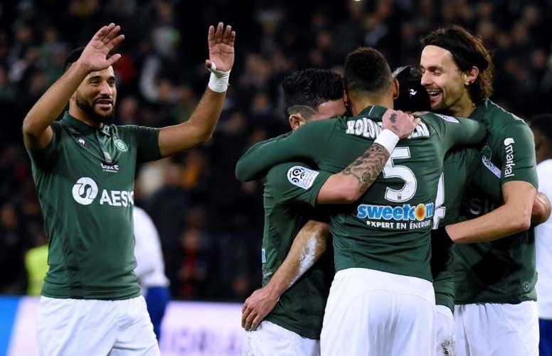 Les compos probables du match de Ligue 1 entre Caen et Saint-Étienne. AFP