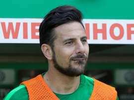 Pizarro célèbre chaque année depuis 20 ans un but. AFP