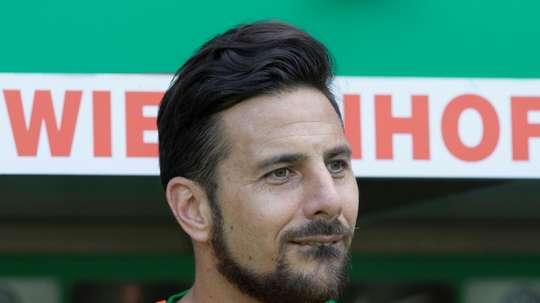 Pizarro, 20 años marcando en la Bundesliga. AFP