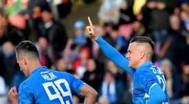 Zielinski va prolonger avec Naples. AFP