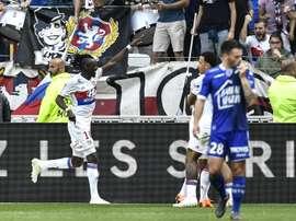 Bertrand Traoré grand artisan de la victoire de Lyon. AFP