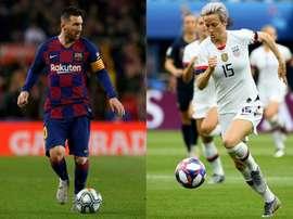 Ballon d'Or: Rapinoe grande favorite, Messi face aux stars de Liverpool. AFP