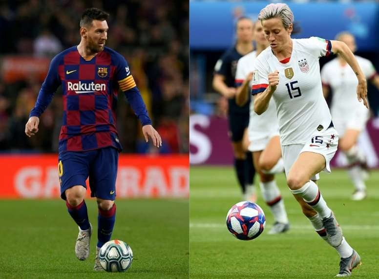 Ballon d'Or: Rapinoe grande favorite, Messi face aux stars de Liverpool. AFP