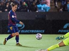 Antoine Griezmann est-il devenu le nouvel avant-centre du FC Barcelone ?. AFP