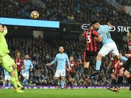 Prováveis escalações de Bournemouth e Manchester City. AFP