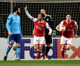 O Sp. Braga bateu o Tondela por 1-0. AFP