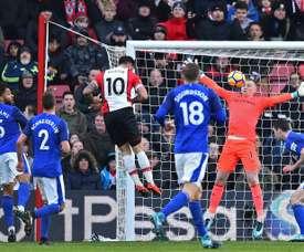 O Southampton venceu por 4-1 na receção ao Everton. AFP