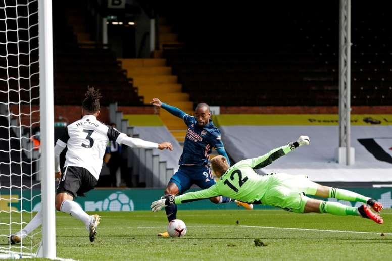 Lacazette atteint la barre des 50 buts avec Arsenal et dépasse Sylvain Wiltord. afp