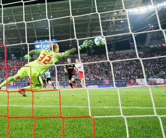 Leipzig tire la langue en Bundesliga dans cette fin de saison. AFP