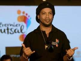 Ronaldinho a commencé avec du futsal. AFP