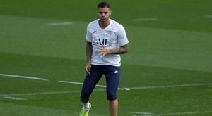 Icardi diz não ter problemas com Messi. AFP