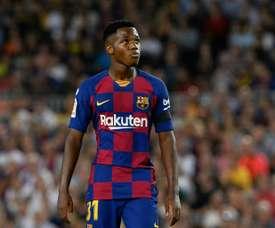 Spain U17 have not called up Ansu Fati. AFP
