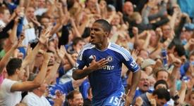 Florent Malouda sous le maillot de Chelsea, contre West Bromwich Albion. AFP