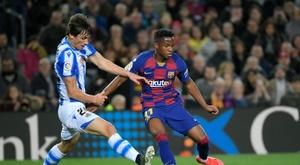 Robin Le Normand prolonge à la Real Sociedad jusqu'en 2024. AFP