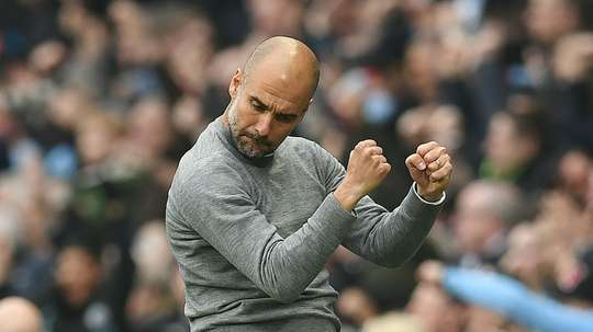 Guardiola will now have access to information from his data analysts during the match. AFP