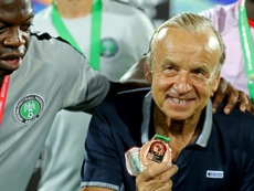 Rohr va prolonger son contrat avec le Nigeria. AFP