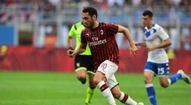Le groupe du Milan AC de l'Hellas Vérone. AFP