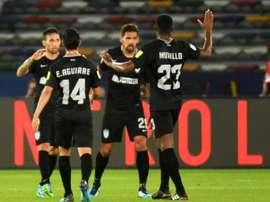 Roberto de la Rosa a disputé et marqué pour Pachuca face à Al jazira. AFP