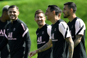 PSG have said that Messi has been outstanding in his first days. AFP