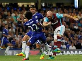 James Collins dejó este verano el West Ham. AFP