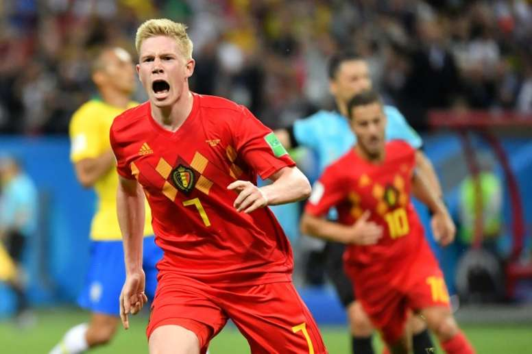 Bélgica se impuso a Brasil con 'show' de Courtois. AFP