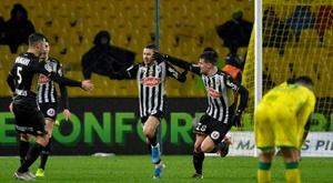 À Nantes, Angers n'a pas volé sa victoire historique. AFP