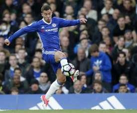 Le milieu de terrain belge de Chelsea, Eden Hazard au cours du match face à Middlesbrough. AFP