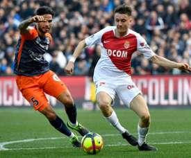 e milieu de Monaco Aleksandr Golovin. AFP