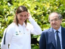 Le Graet veut plus de football féminin. AFP