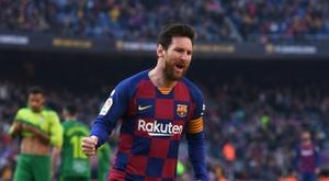 Messi, perto de recorde histórico de Pelé. AFP