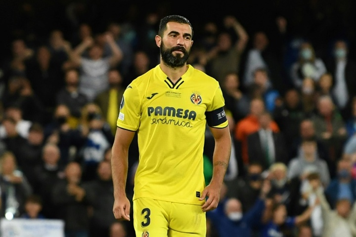 Albiol se refirió al posible penalti a Nacho. AFP